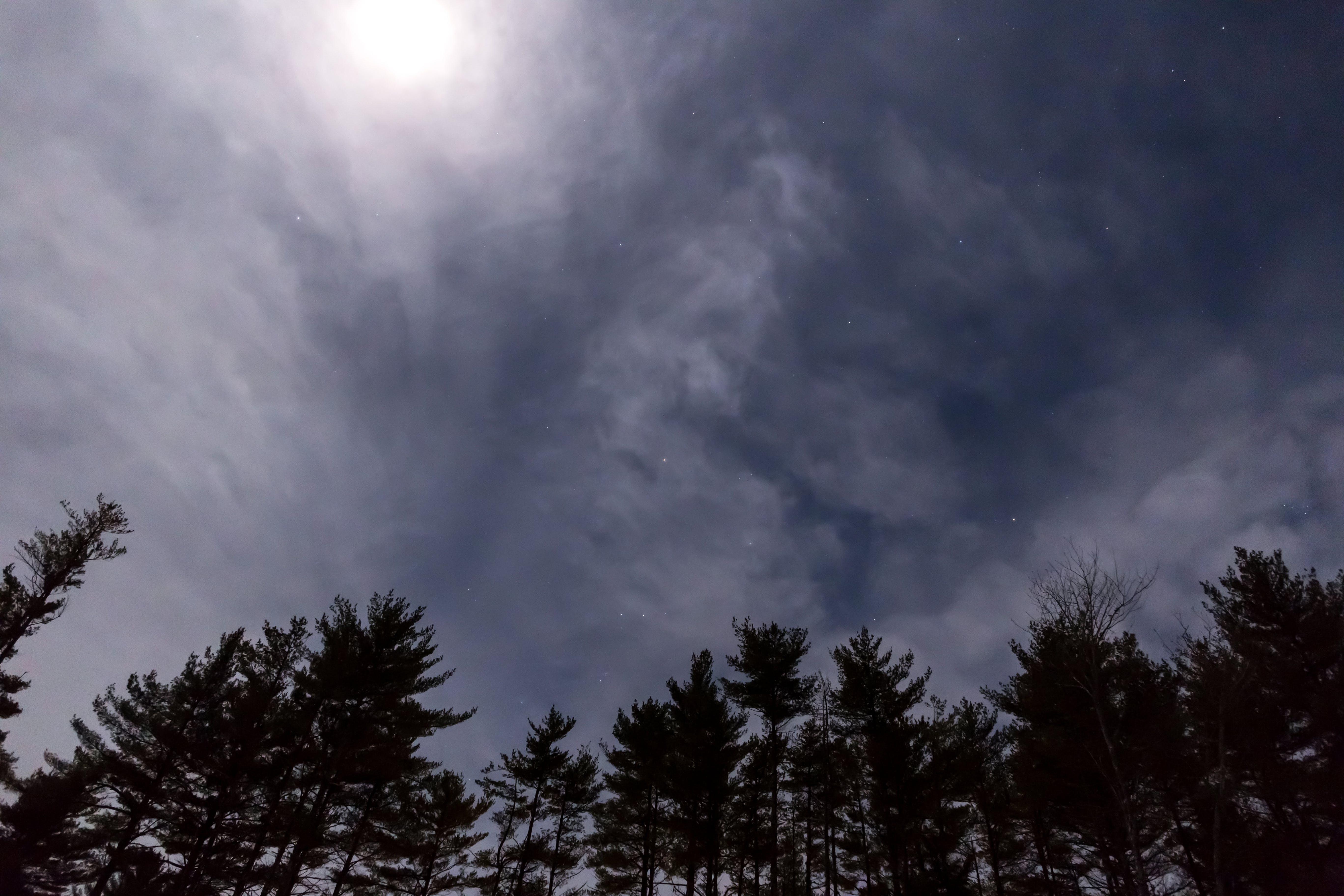 Kostenloses Stock Foto zu natur, himmel, nacht, wolken