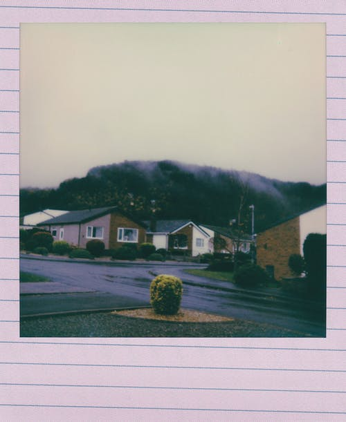 Instant Photo Of A House