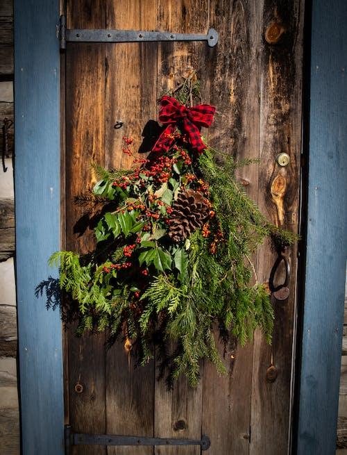 Free stock photo of christmas, door, harmony, log cabin