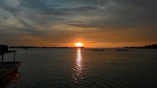 คลังภาพถ่ายฟรี ของ ความรัก, ชายหาด, ดวงอาทิตย์, ตะวันลับฟ้า