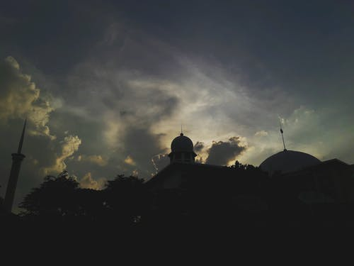 คลังภาพถ่ายฟรี ของ การถ่ายภาพ, ขาวดำ, ชั่วโมงทอง, ท้องฟ้า