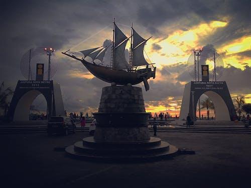 คลังภาพถ่ายฟรี ของ ชั่วโมงทอง, ตะวันลับฟ้า, ท้องฟ้า, เรือ