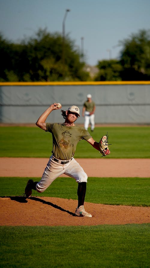 Baseball Player Throwing the Ball