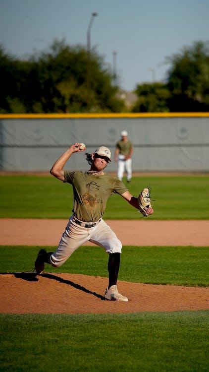 Baseball Player Throwing the Ball
