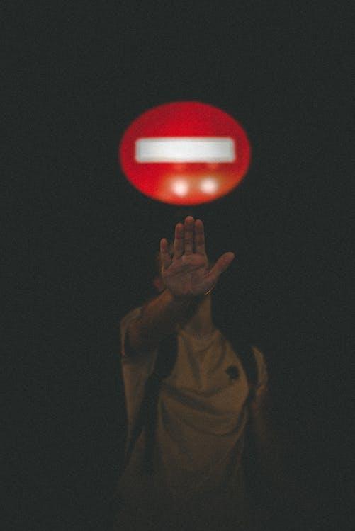 Man Signal to Stop
