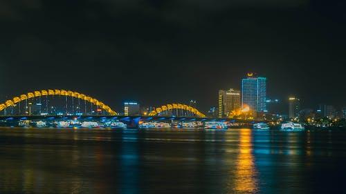 Бесплатное стоковое фото с городские огни, мост