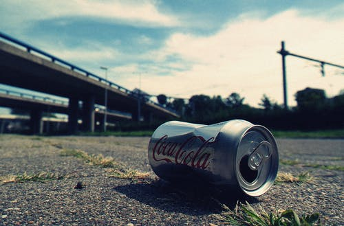 Shallow Focus Photography of Coca-cola Can