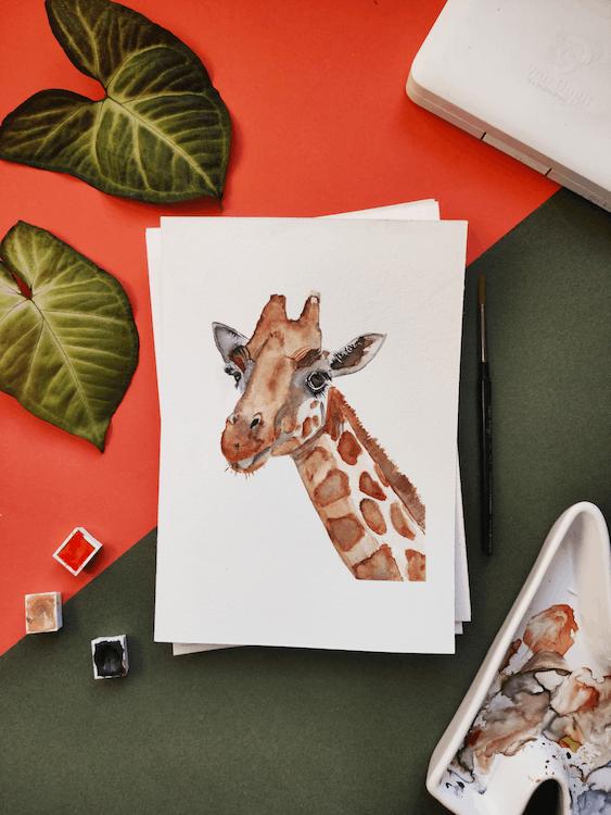 Painting of Giraffe