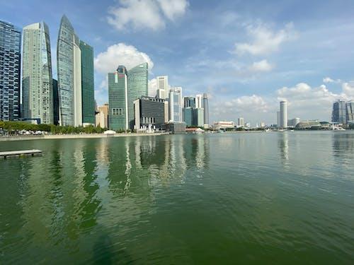Free stock photo of blue sky, city, singapore, waterfront