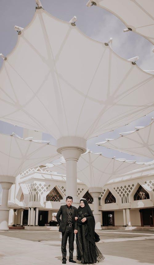 Couple  Inside Building