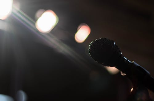 Free stock photo of blur, light, lights, microphone