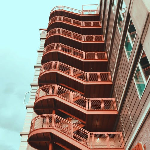 Free stock photo of apartment building, architecture, staircase