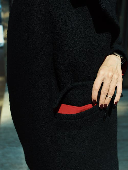 Woman Wearing Black Coat