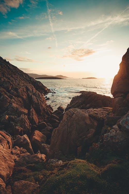 Immagine gratuita di alba, ambiente, azzurro, bagnasciuga