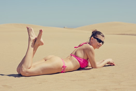 Free stock photo of landscape, person, sunglasses, bikini