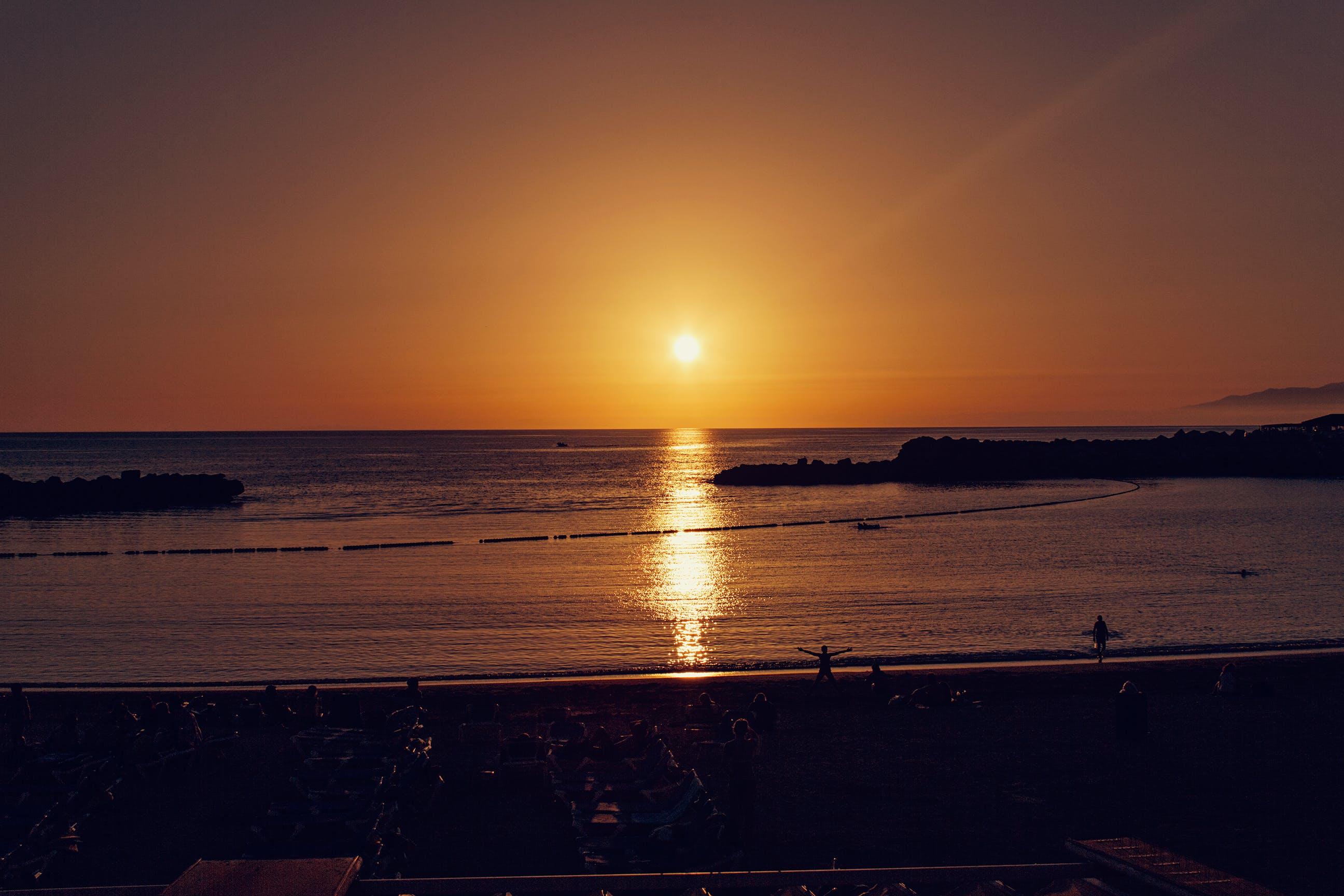 Gratis lagerfoto af aften, bagbelyst, hav, havudsigt