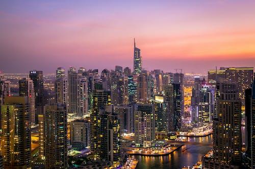 Immagine gratuita di alba, architettura, centro città, città