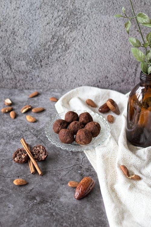 Free stock photo of almond, almonds, cinnamon, cinnamon stick