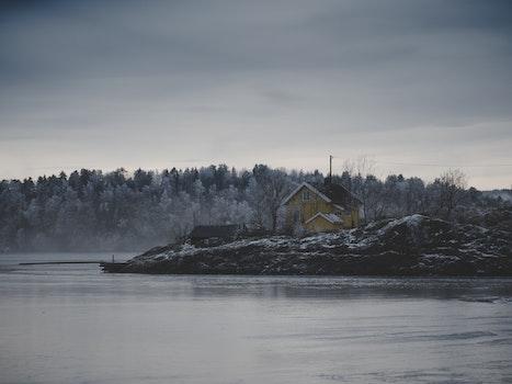 Kostenloses Stock Foto zu kalt, schnee, dämmerung, landschaft