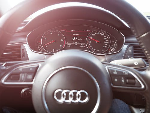 Free stock photo of audi, auto show, black, black car