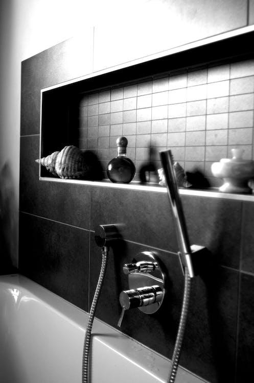 Free stock photo of bathtub, black-and-white, wellness