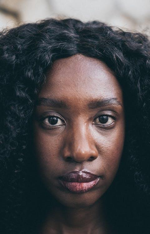 afroamerykanka, afrykański, czarna dziewczyna