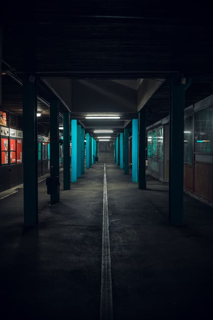 An empty subway station