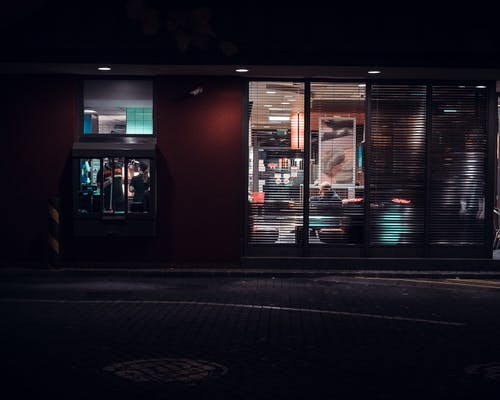 An Open Shop at Night
