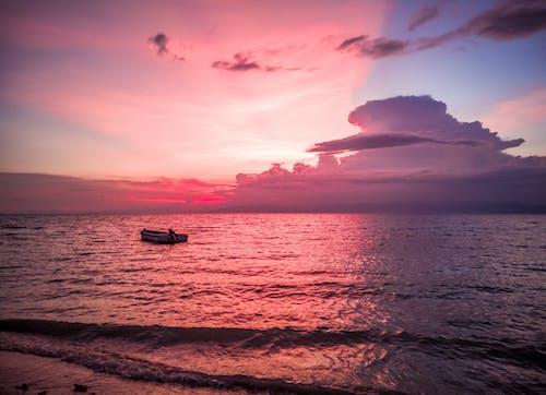 akşam, akşam karanlığı, deniz, deniz manzarası içeren Ücretsiz stok fotoğraf