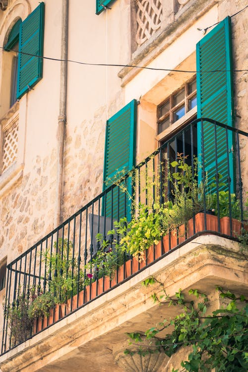 Free stock photo of balcony, facade, holiday