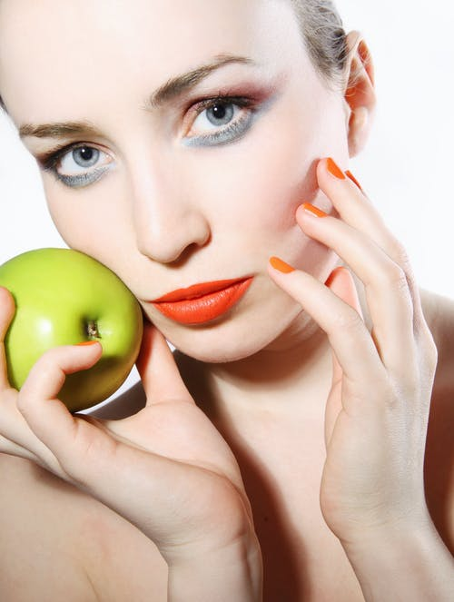 Free stock photo of apple, attractive, beauty, beauty face