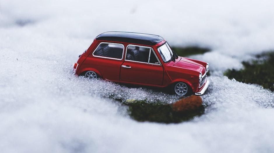 Vintage Car on Snow
