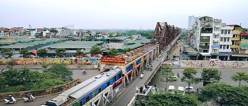 Kostnadsfri bild av hanoi, steampunk, tåg, upptagen gata
