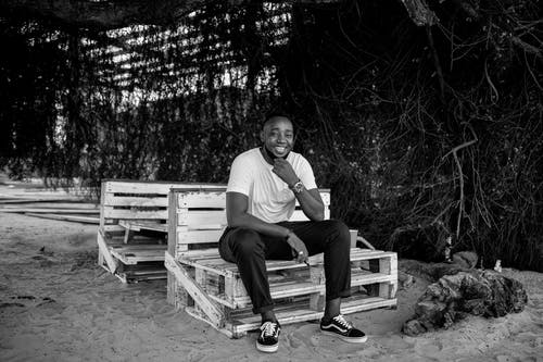 Free stock photo of african men, black and white, black guy, chilling
