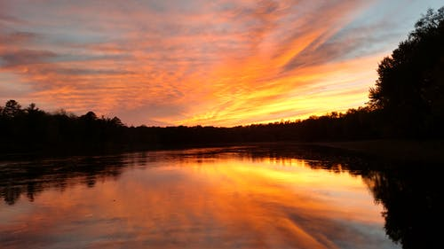 Free stock photo of Mississippi River Sunset