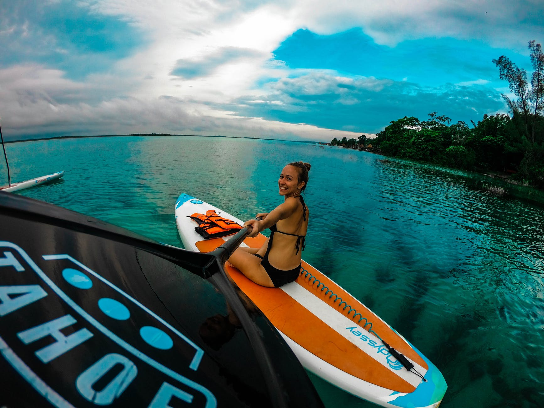 best inflatable paddle board for yoga