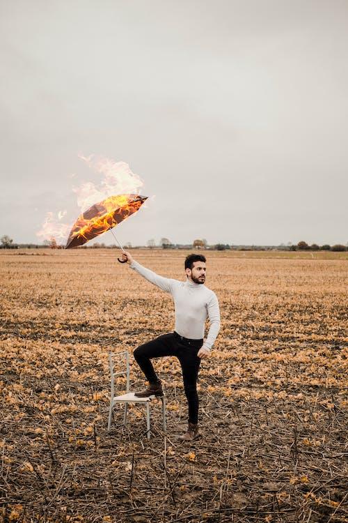 Imagine de stoc gratuită din ardere, câmp, costum