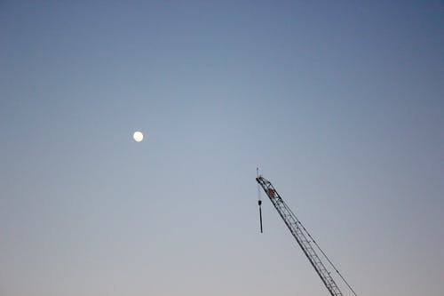 Free stock photo of crane, desktop wallpaper, full moon