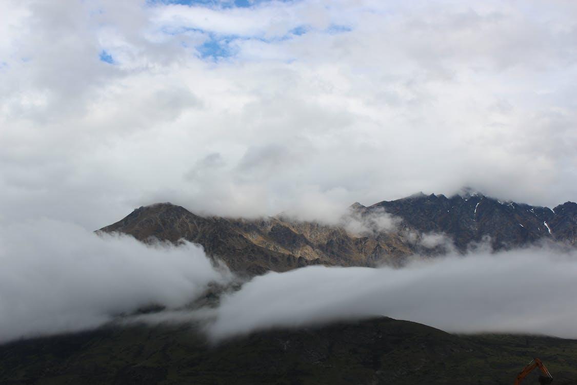 bjerge, køretur, natur