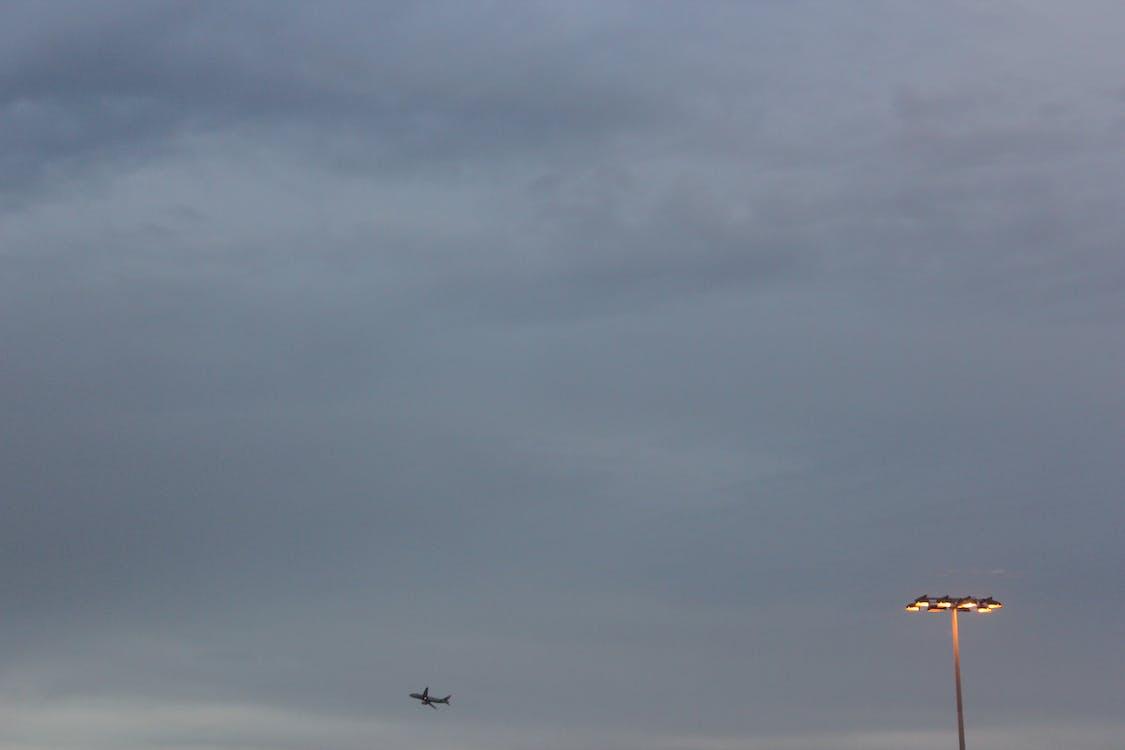 ensam, flygplan, flygplats