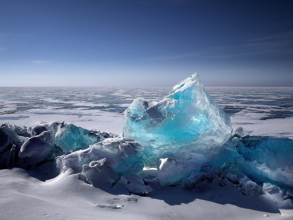View of Ice on Sea Against Sky