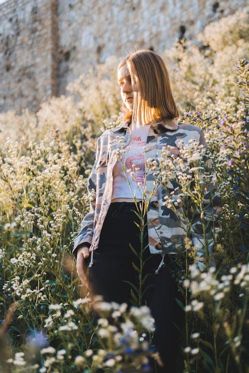 Imagine de stoc gratuită din fată, fata cu flori, model, natură