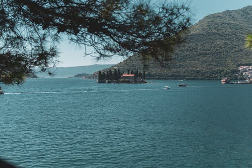 Free stock photo of boats, forest, island, Montenegro