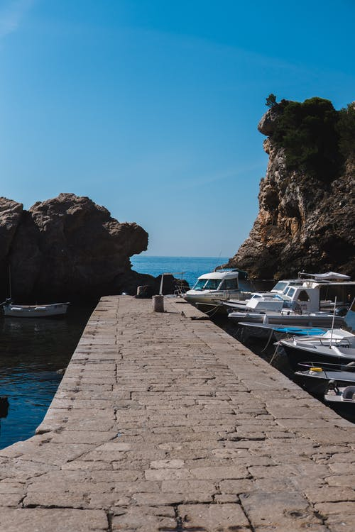Free stock photo of boats, dock, dubrovnik