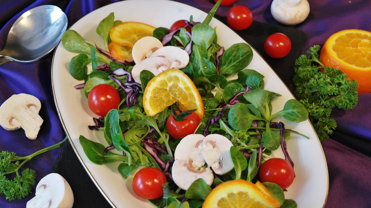 appetizer salad, colorful, delicacy