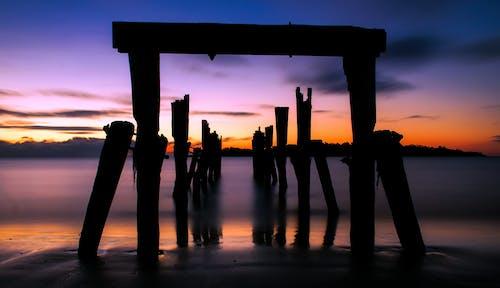 Δωρεάν στοκ φωτογραφιών με ακτή, Ανατολή ηλίου, αντανάκλαση, απόγευμα