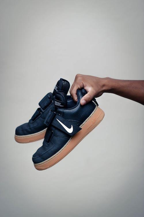 Pair of Black Nike Air Force 1 Low-top Sneakers