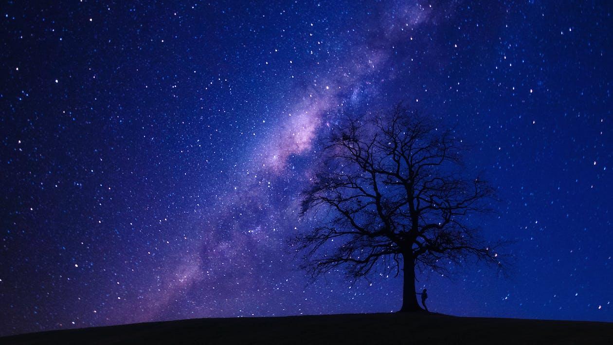 4k ταπετσαρία, galaxy, άνθρωπος