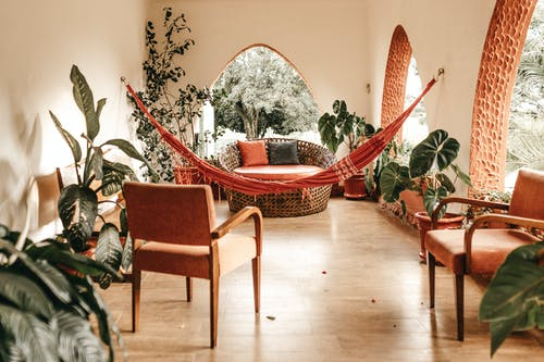 Red Hammock Inside Room