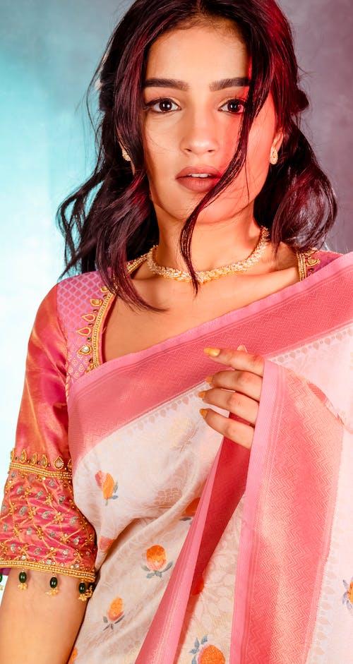 印度新娘, 女模, 愛, 紗麗 的 免費圖庫相片